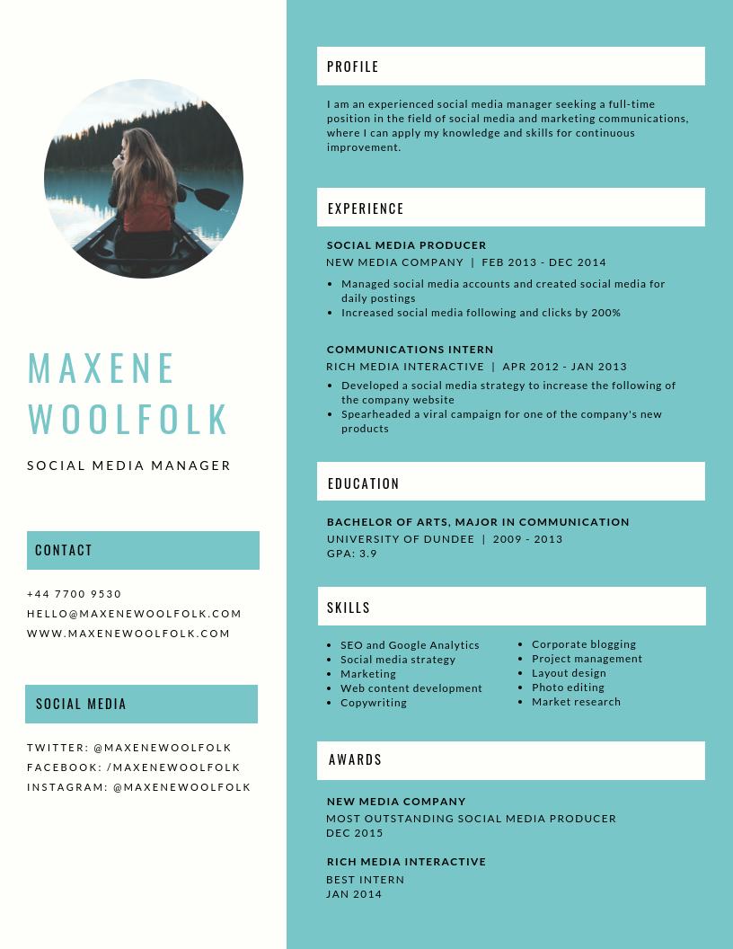 Curriculum Vitae 2019 Información Básica Para Conseguir
