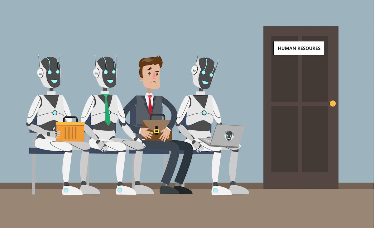 candidatos que buscan trabajo- robots