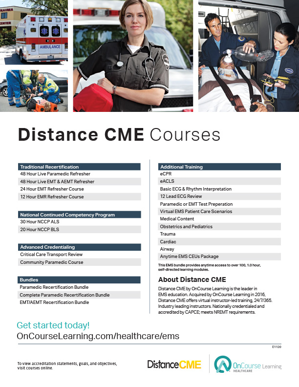 Emergency Medical Services Resources | OnCourse Learning