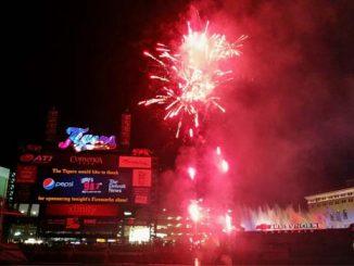 comerica park fireworks