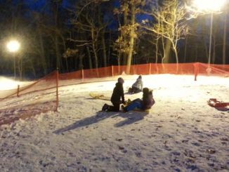 nighttime sledding