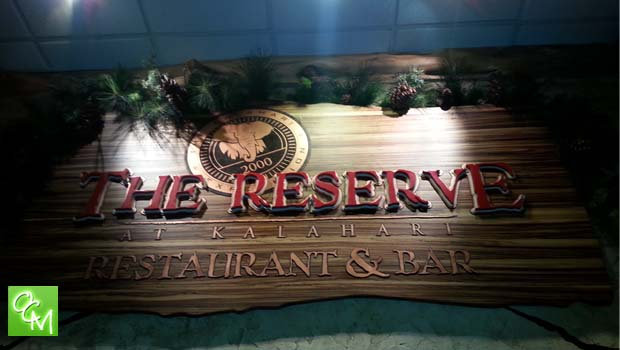 kalahari restaurant the reserve