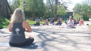 Family Yoga in the Rock Garden @ Meadow Brook Hall