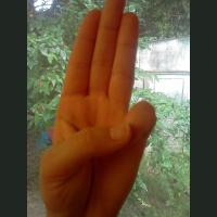 a three finger salute!