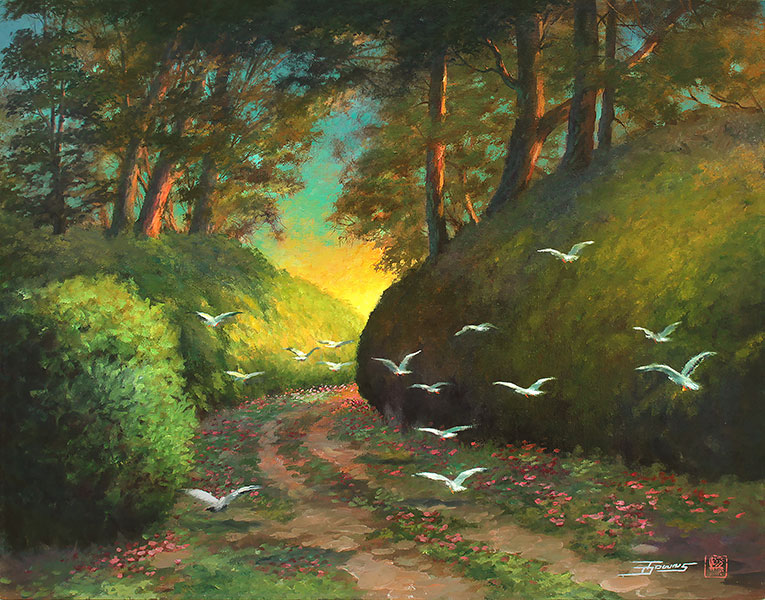 """""""Gleaming Flight"""" painting by Donald Towns"""