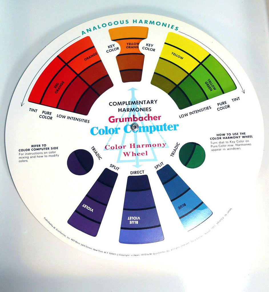 Color Wheel with analogous harmonies