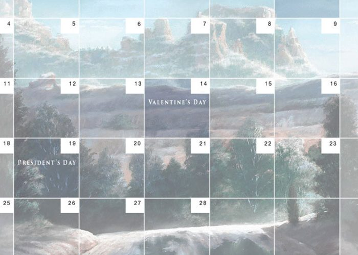 Free Downloadable Calendar – February 2018