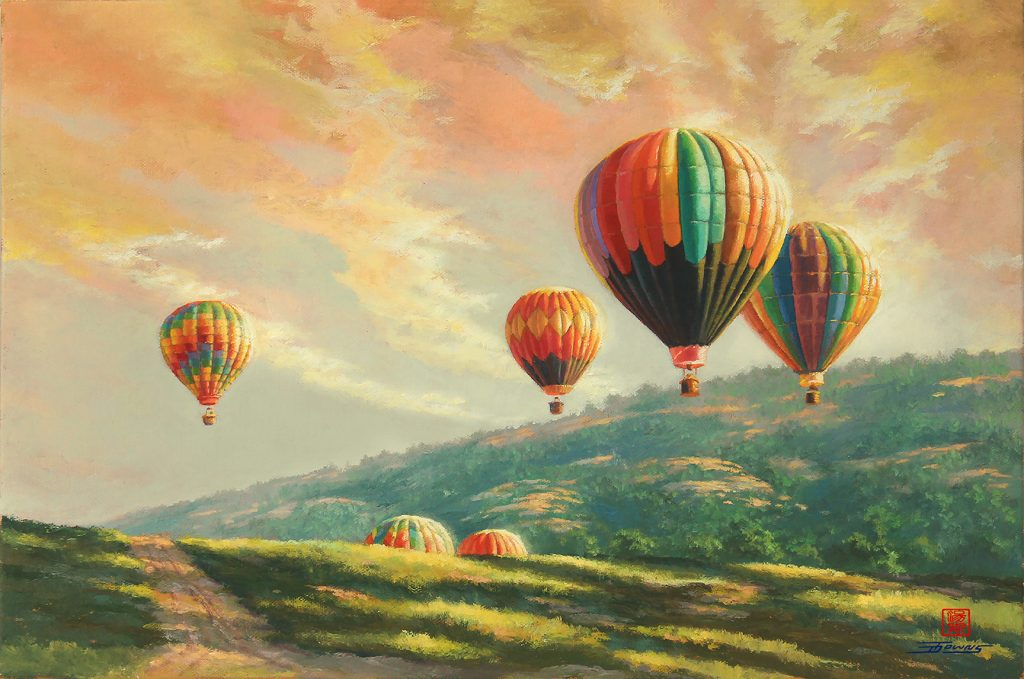 fine art hot air balloon