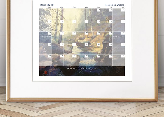 Free Downloadable Calendar – March 2018