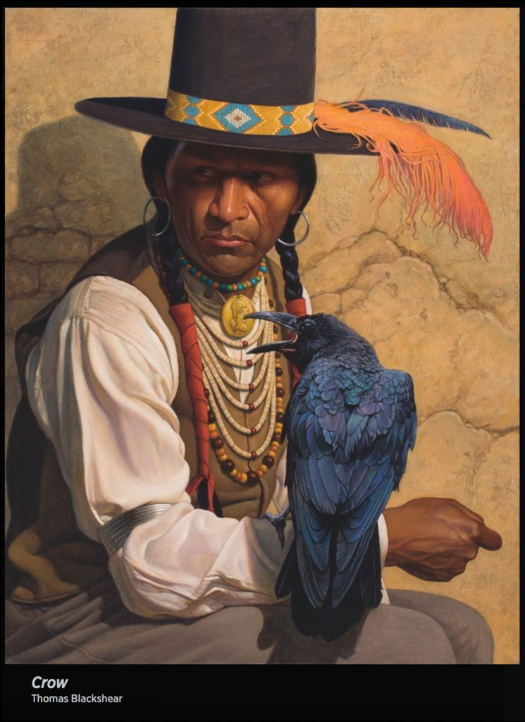 "Painting ""Crow"" by Thomas Blackshear."