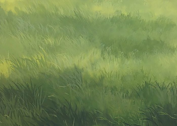 Artist Technique Depicting Grass in a Painting