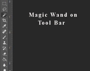 Magic wand tool bar on photoshop