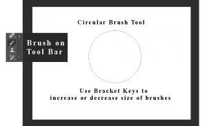 circular brush tool on photoshop