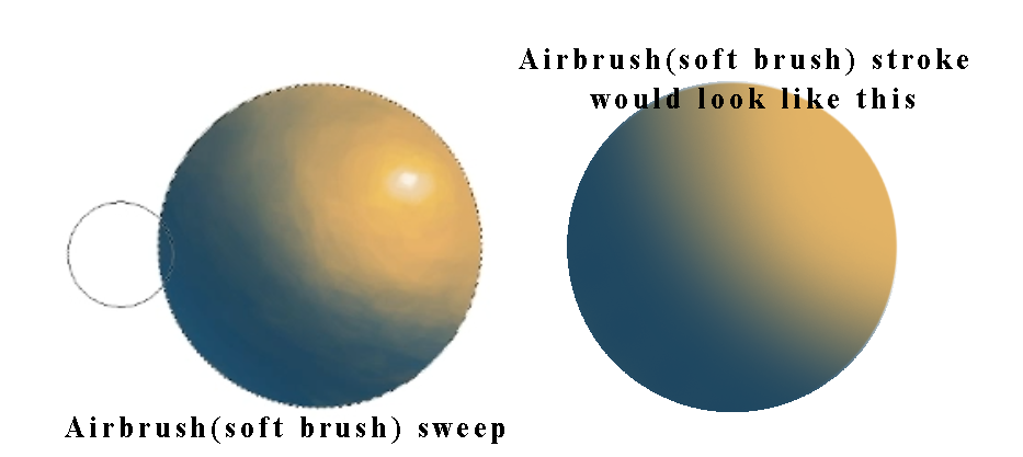 airbrush tool on photoshop