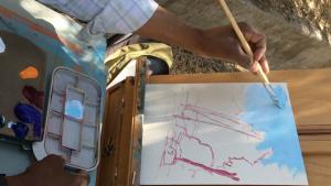 hand painting sky