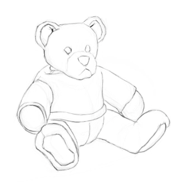 Digital bear on Photoshop