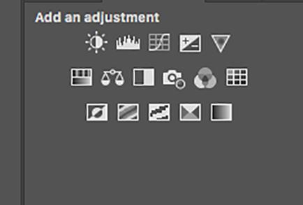 photoshop window showing adjustment masks