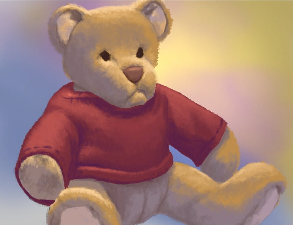 Digital painting on photoshop of a bear