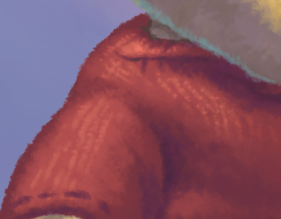 Using color and highlights to create texture on digital painting