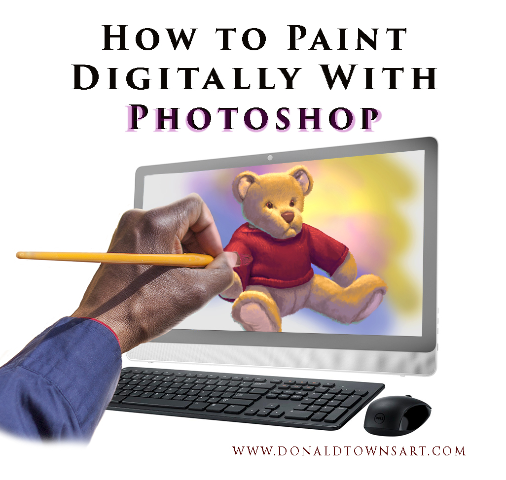 Artist painting digitally on Photoshop