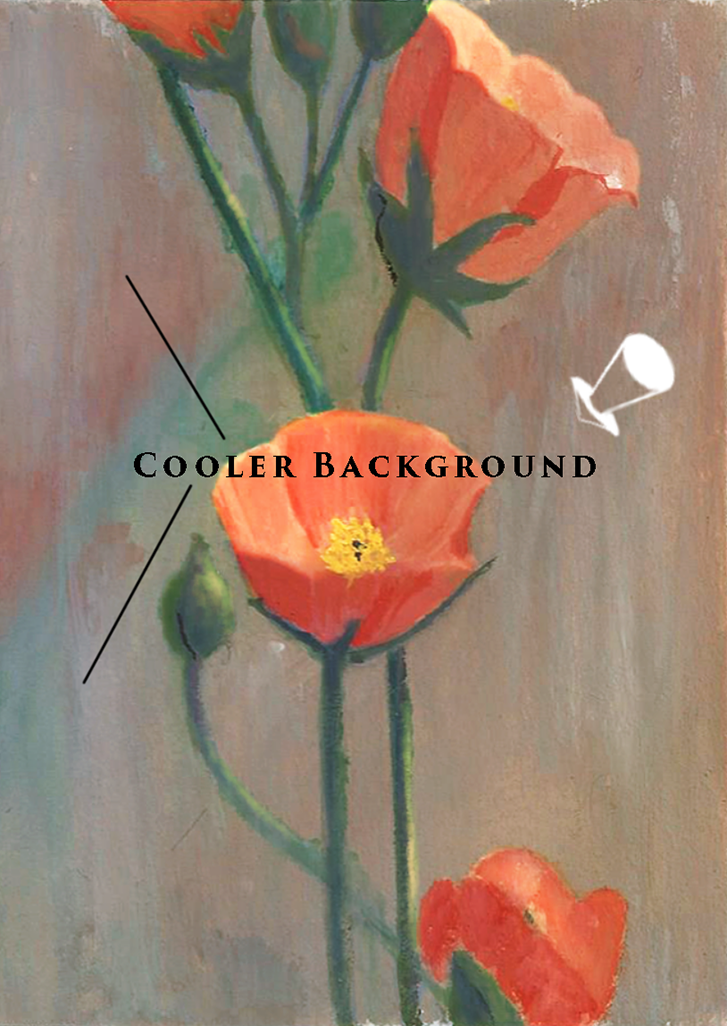 Painting flower background