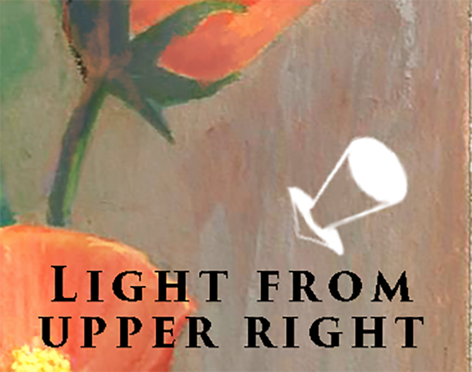 direction of light arrow