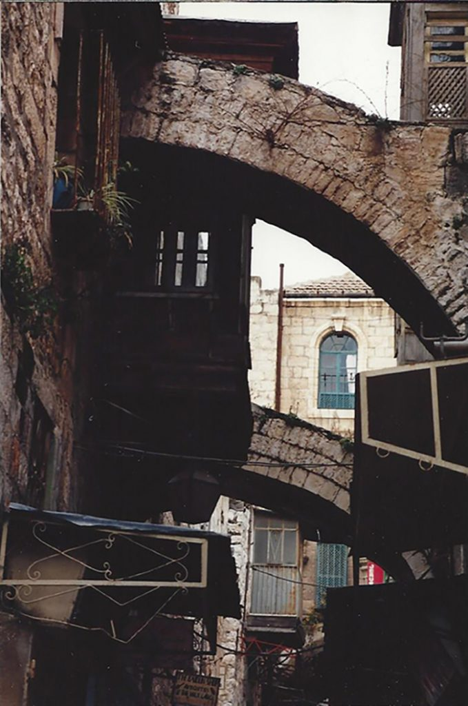 Flying buttress archway in Israel