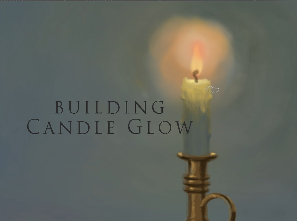 candle glow digitally painted