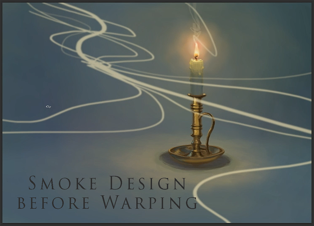 Digital painted candle smoke effect design added