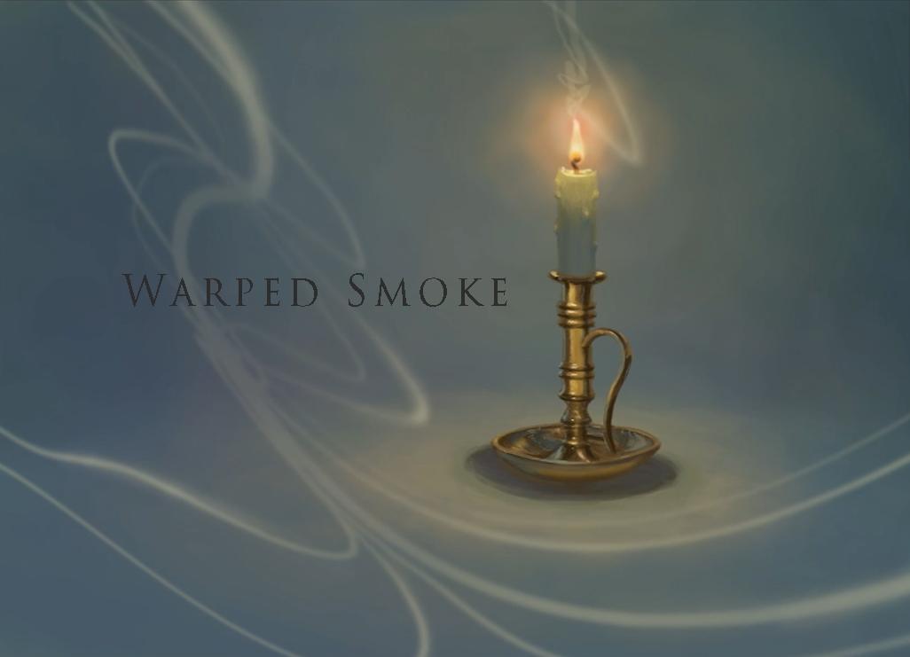 digital painted candle designed smoke effect warped.