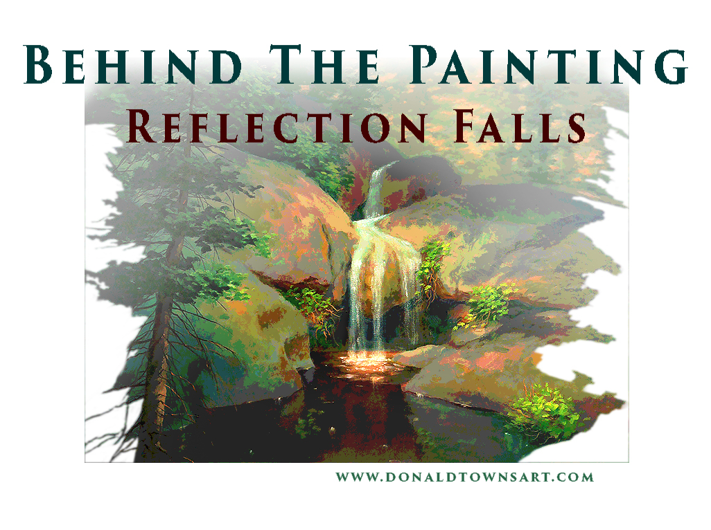 painting of waterfall title art