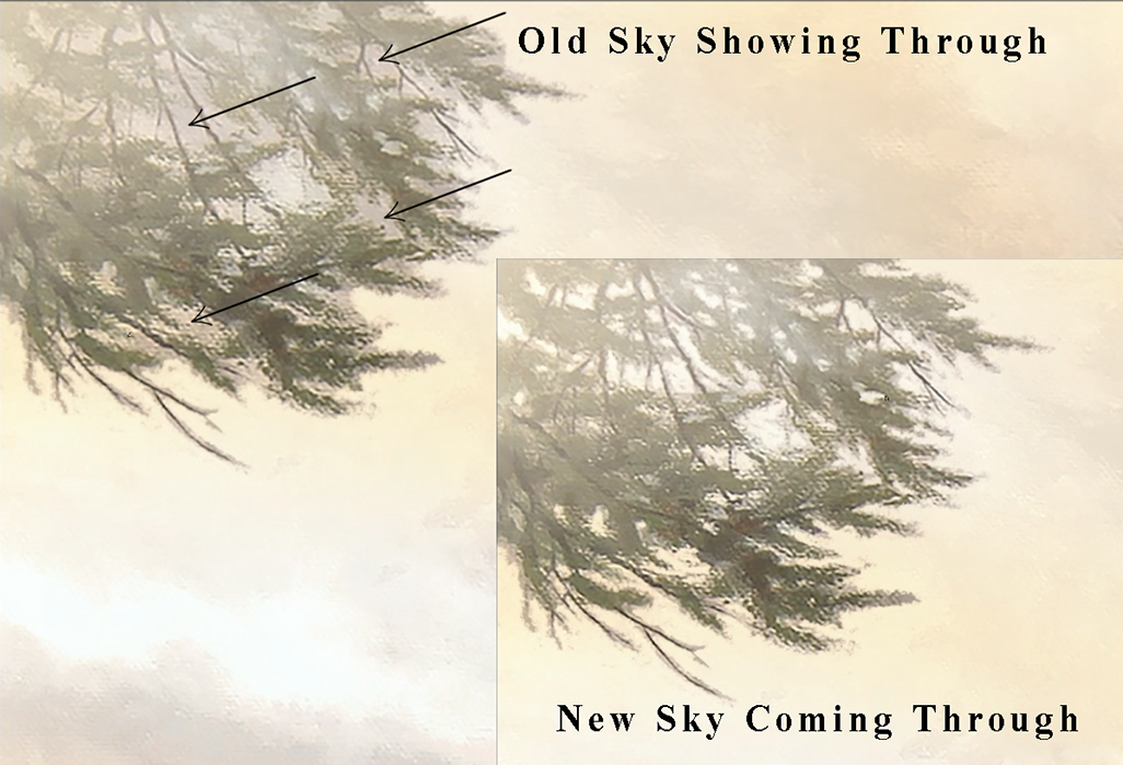 Painted image showing digital fix the tree branches