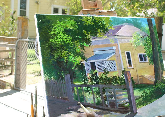 Behind The Painting – The Gallinger House