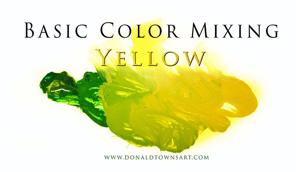 Yellow and green paint mixed