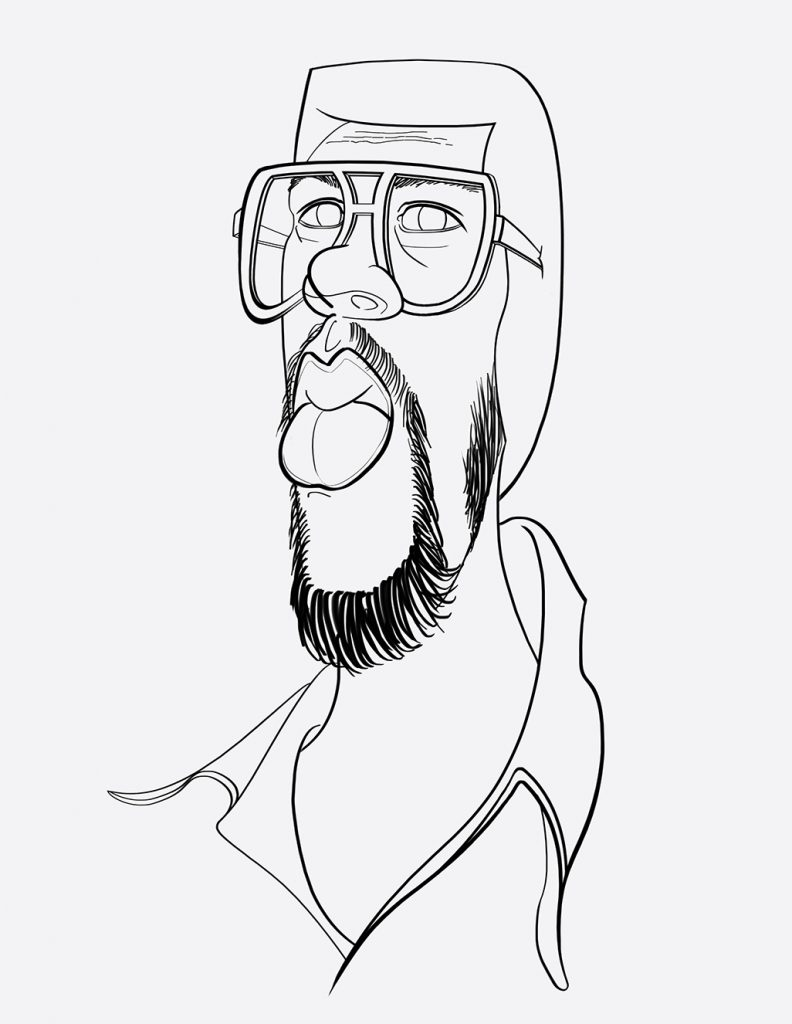 photoshop caricature line drawing
