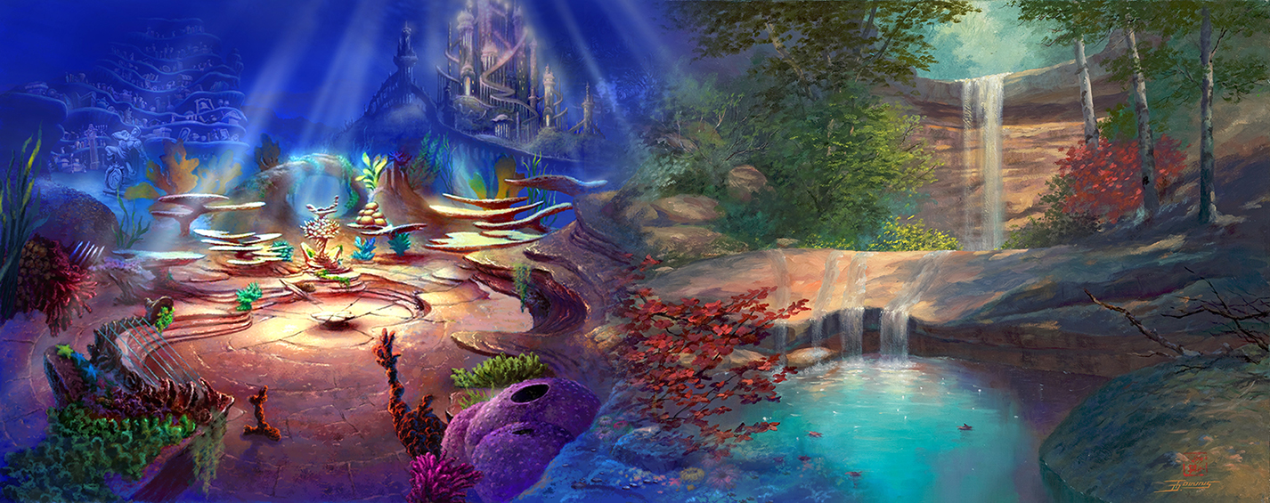 The Little Mermaid and The Waterhole Paintings