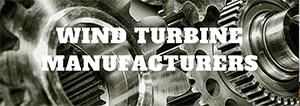 wind turbine manufacturers