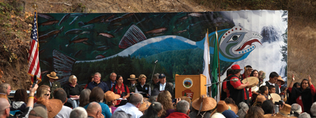 Elwha Dam ceremony, September 17, 2011. Photo by John Gussman