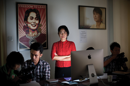 MYANMAR: Mon Mon Myat, a filmmaker and writer, is currently producing a documentary film on political opposition leader Aung San Suu Kyi. She believes journalism is a way for truth telling and a necessity to get information to the people.