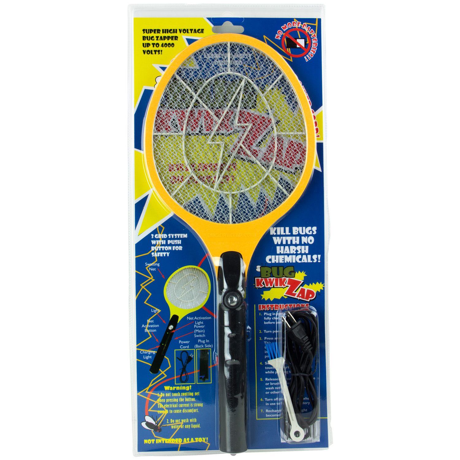 BugKwikZap - Blacktail Rechargable Electric Bug Zapper Super High Voltage (Discharge up to 2300V)