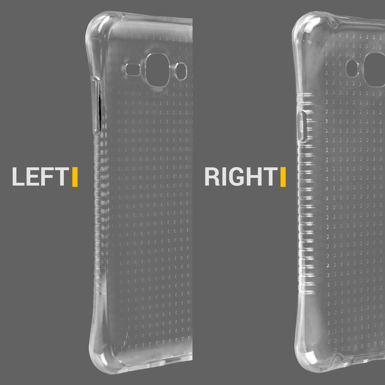 Samsung Galaxy J1 2016 Clear Shockproof Air Pocket Case Anti Slip Grip iPhone Shockproof