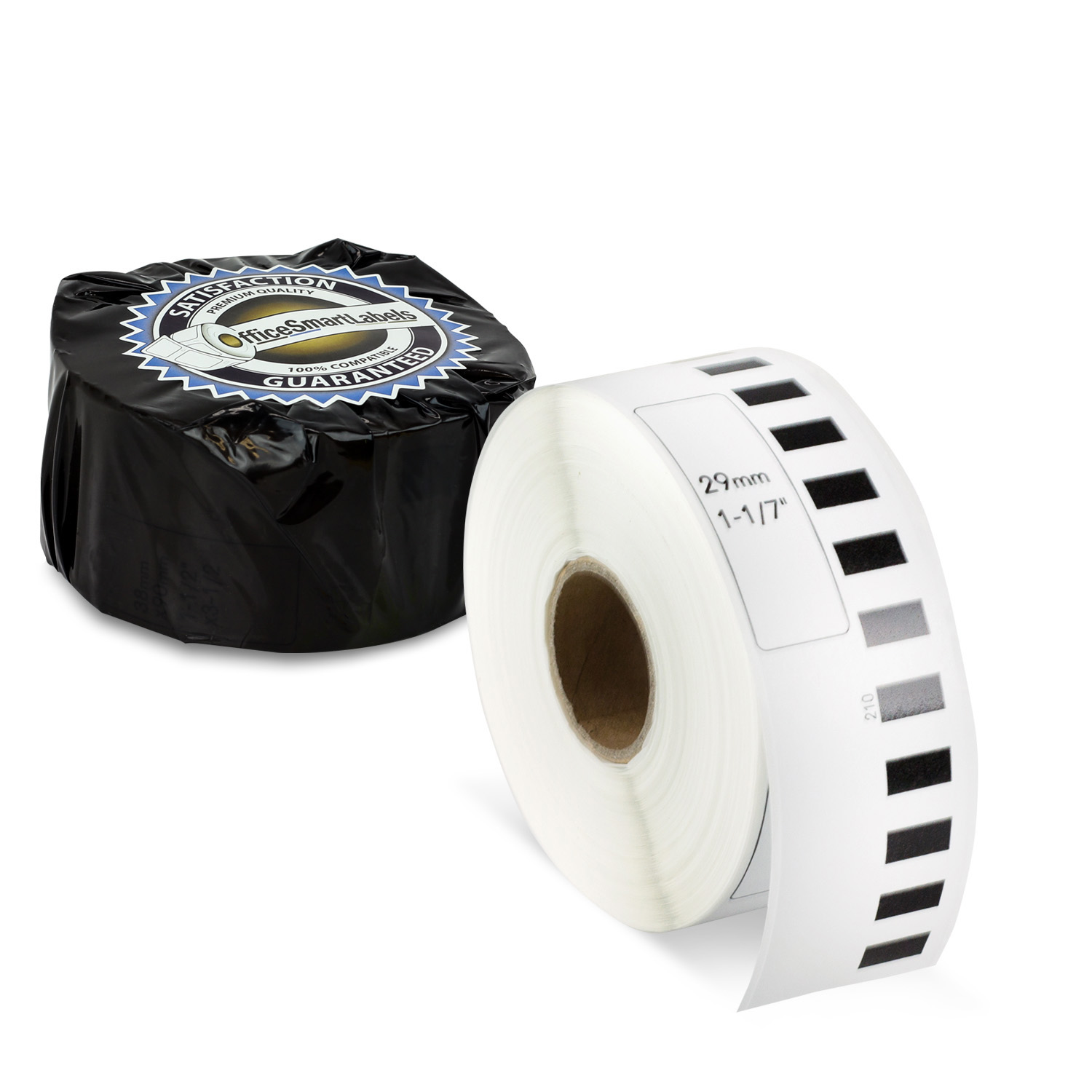 "Brother Compatible DK-2210 Continuous Labels (1-1/7"" x 100 ft) - Without Cartridge 