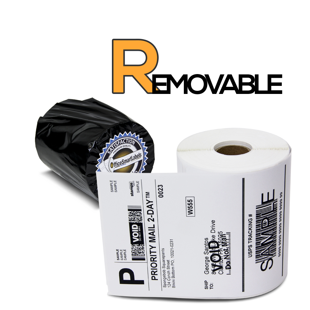 "Compatible Dymo 1744907 Removable Adhesive - 4"" x 6"" 4XL Internet Postage Shipping Labels (1 Roll - 220 Labels Per Roll)"