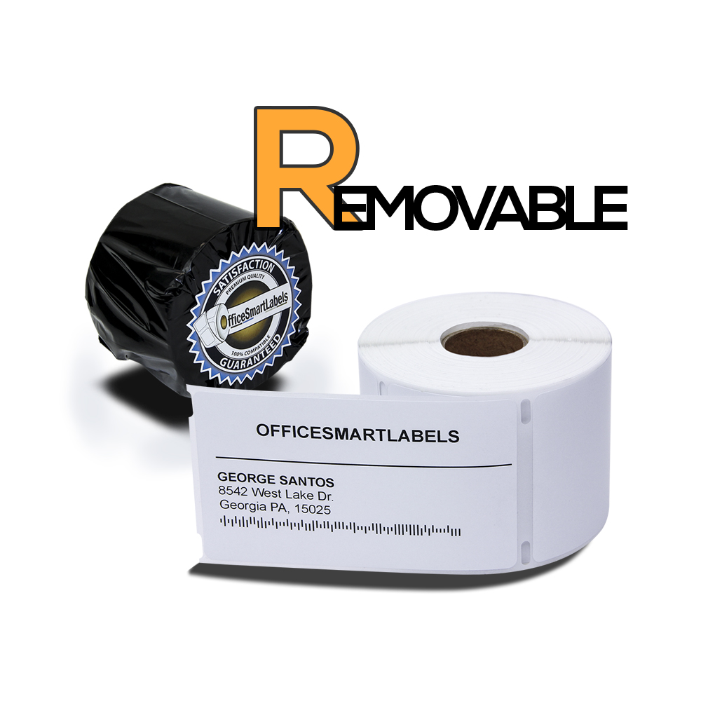 "Dymo Compatible 30256 Removable Adhesive - 2-5/16"" x 4"" Shipping Labels (1 Roll - 300 Labels Per Roll)"