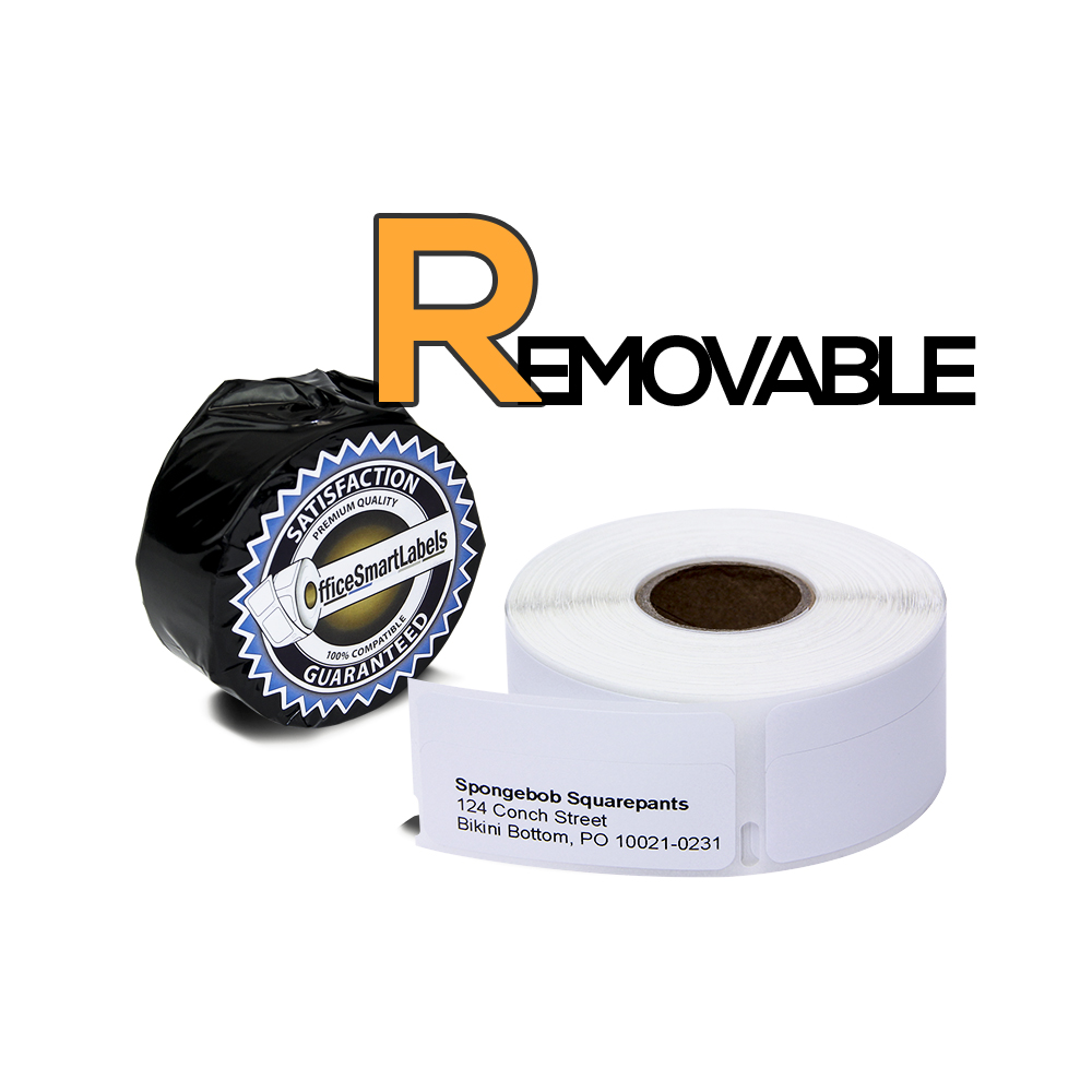 "Dymo Compatible 30330 Removable Adhesive - 3/4"" x 2"" Multipurpose / Return BLANK Address Labels only for Dymo PRINTER (1 Roll - 500 Labels Per Roll)"
