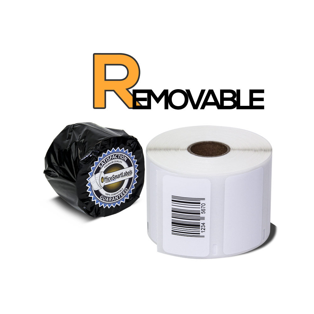 "Dymo Compatible 30334 Removable Adhesive - 2-1/4"" x 1-1/4"" Multipurpose Labels (1 Roll - 1000 Labels Per Roll)"