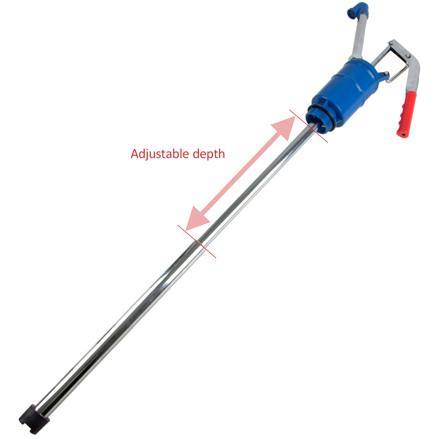 TERAPUMP - TRLEVER100 High Viscosity Hand-Operated Leer Action Drum Pump