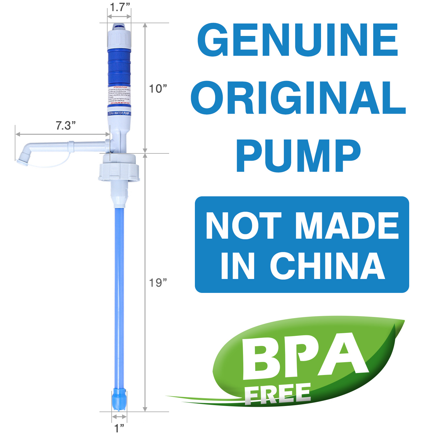 "TERAPUMP - TRPMW100 2 ""D"" Battery Operated Drinking Water Pump (Except Glass Bottles) BPA-Free"