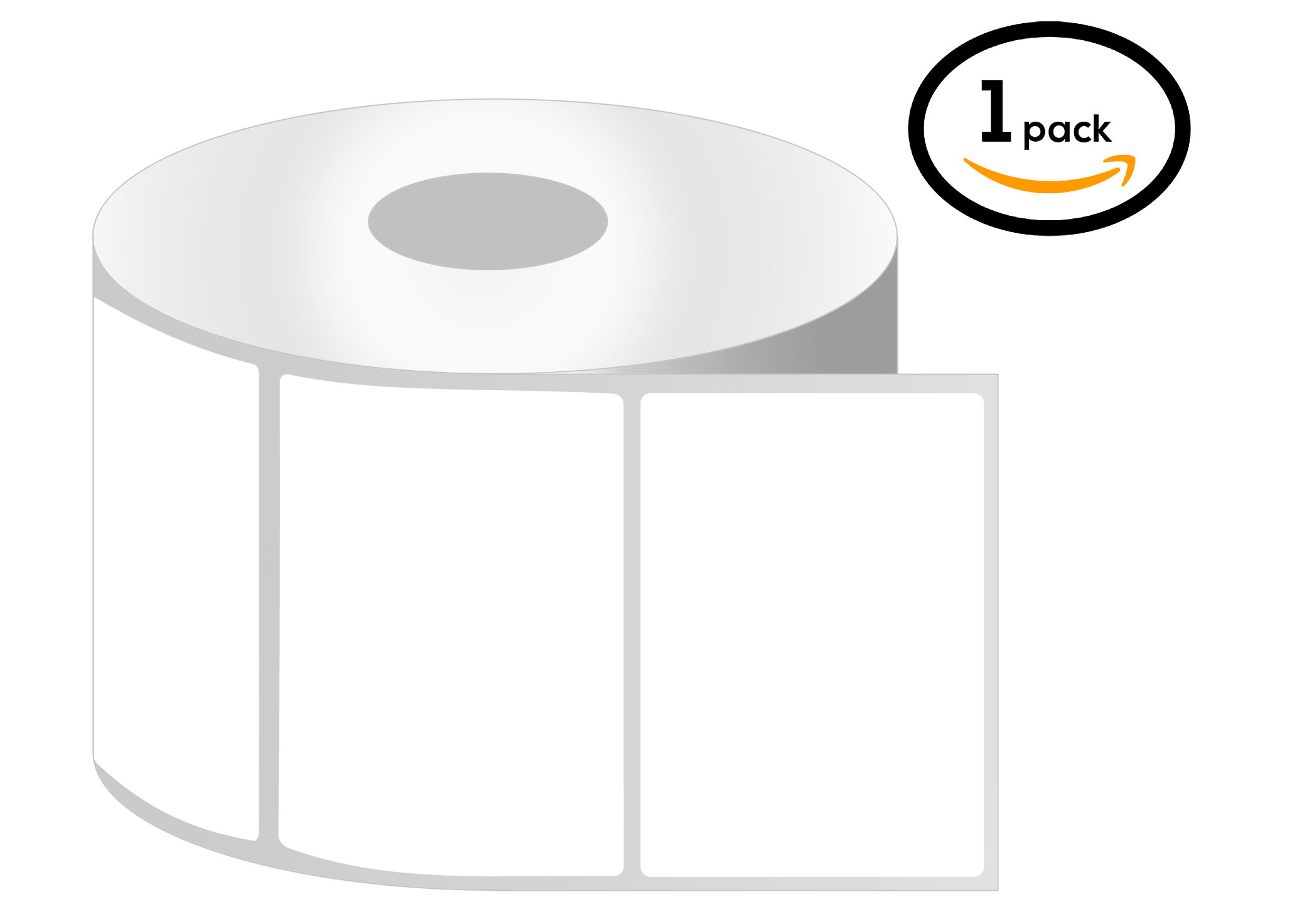 1 Inch Core - 2 x 1.5 Zebra Compatible Direct Thermal Labels 1 Roll