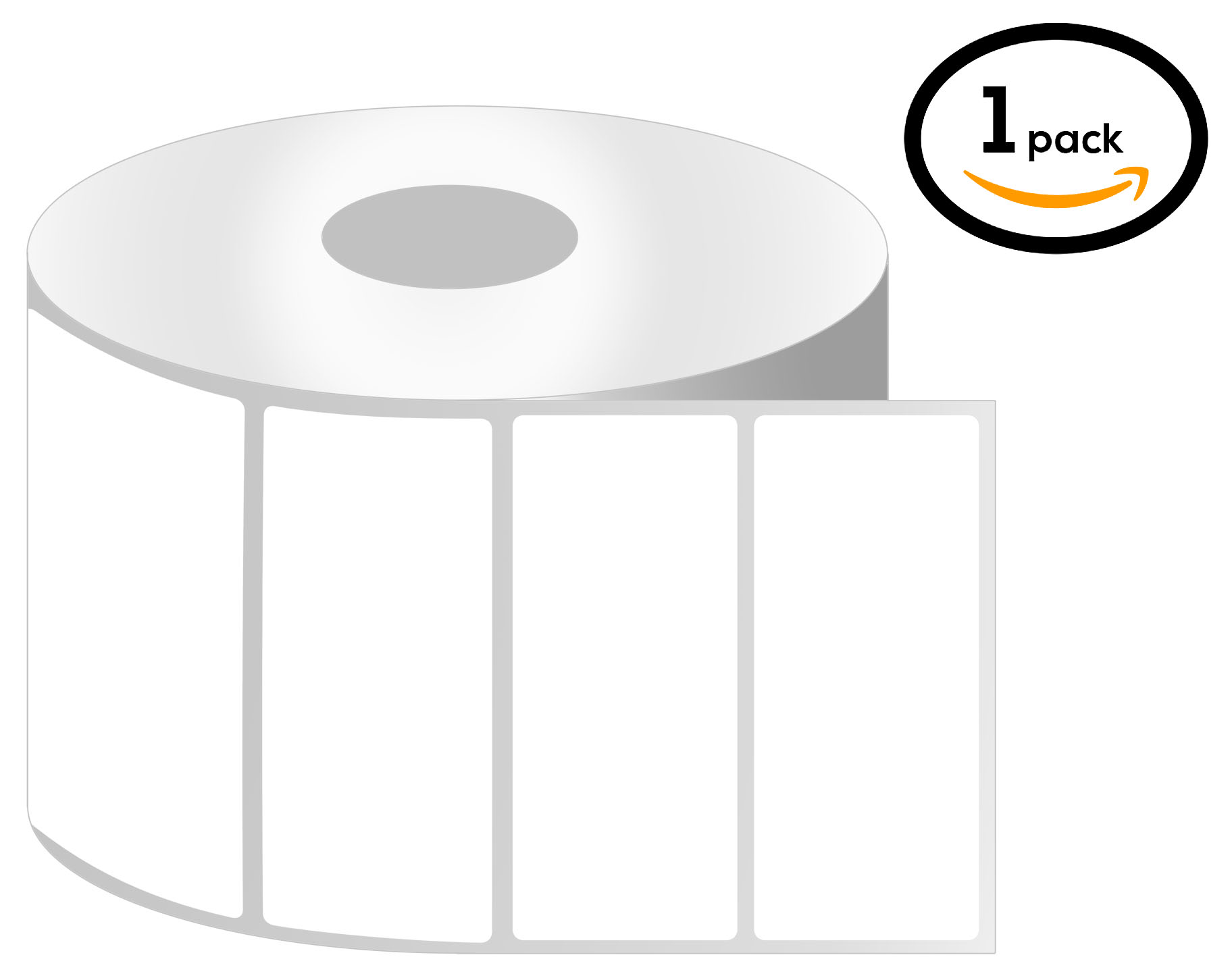 1 Inch Core - 3 x 1 Zebra Compatible Direct Thermal Labels 1 Roll